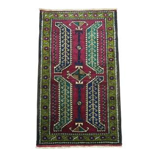 Vintage Turkish Small Rug mat, 1'9'' x 3'