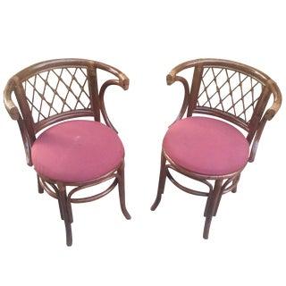Rattan Bamboo Chairs - A Pair