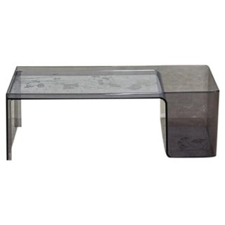Usame Tray Table by Kartell in Smoked Grey