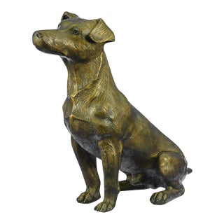 Life Size Jack Russell Terrier Dog Bronze Sculpture