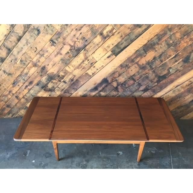 Mid-Century Danish Walnut Rosewood Coffee Table - Image 6 of 6
