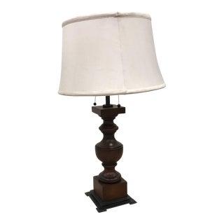 Visual Comfort Wood & Metal Lamp