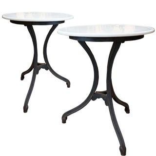 A Pair of Bistro Tables