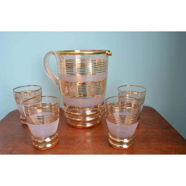 Gilt & Frosted Pitcher & Glasses Set - Image 4 of 5