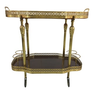 English Brass Bar Cart