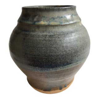 Hand Thrown Blue Gray Vase