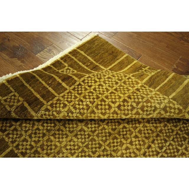 "Oriental Oushak Green Chobi Rug - 4'1"" x 6'7"" - Image 6 of 7"