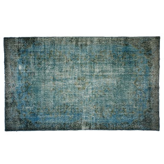 """Turquoise Over-Dyed Wool Rug - 5'10"""" x 9'8"""""""