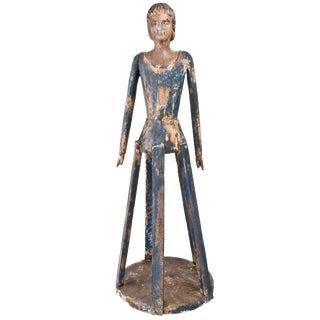 Large Vintage Inspired Hand Carved Wood Santos Figure