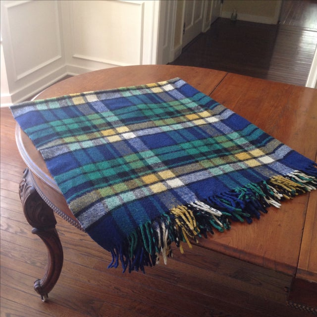 Plaid Wool Tailgate/Picnic Blanket - Image 6 of 11