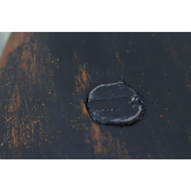 Set of Four 18th Century Black Painted Brace Back Windsor Chairs - Image 10 of 10