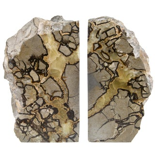 Polished Septarian Stone Bookends - A Pair