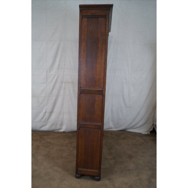 English Tudor Oak Large Open Bookcase - Image 3 of 10