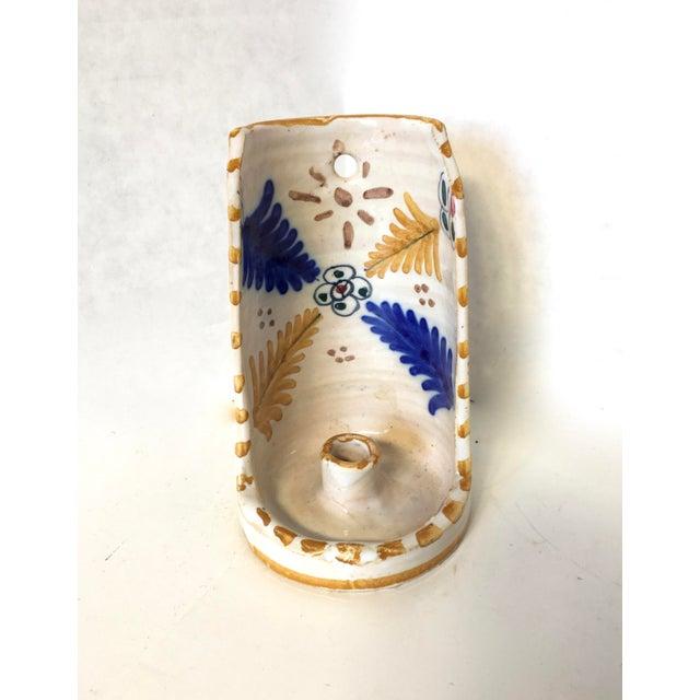 Vintage Blue & Gold Art Pottery Candle Holder - Image 2 of 5