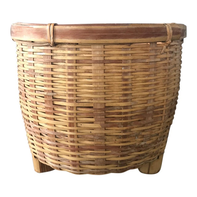 Jungalow Style Small Rattan Basket - Image 1 of 6