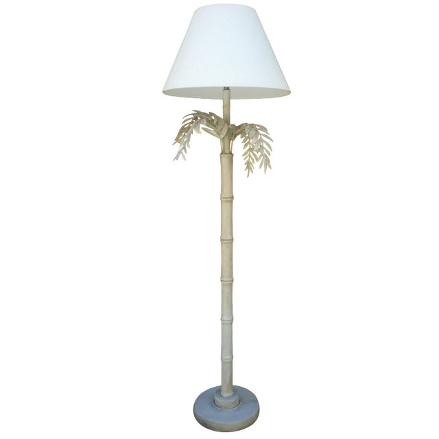 1930s Dripping Fern & Bamboo Lamp - Image 1 of 5
