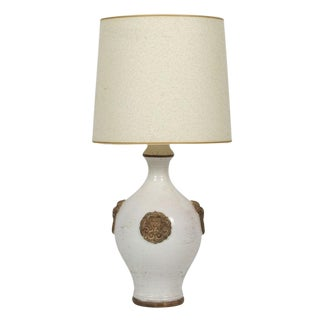 Ugo Zaccagnini Oatmeal & Gilt Glazed Ceramic Table Lamp