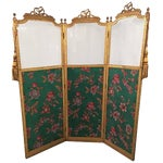 Antique Three Panel French Screen