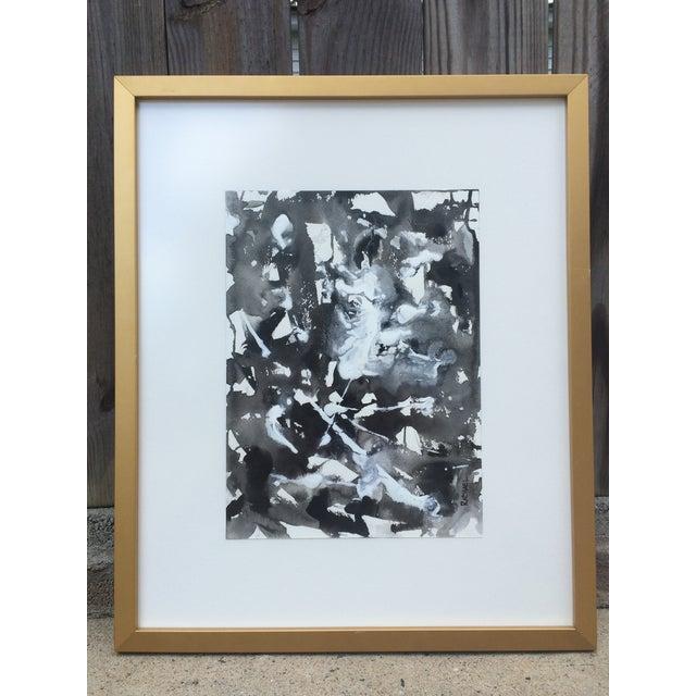 "Image of Contemporary Mixed Media ""Blot I"" Painting"