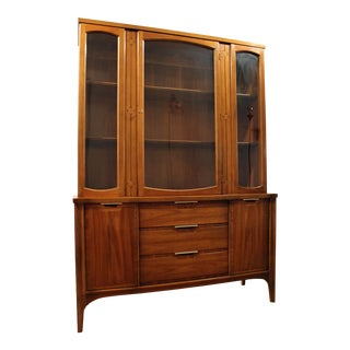 Mid-Century Danish Modern American of Martinsville Walnut China Cabinet #2