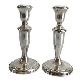 Reed & Barton Sterling Silver Candle Holders - a Pair