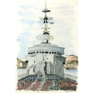 Watercolor Painting, Anti-Aircraft Frigate
