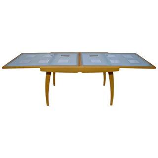 Expandable Wood & Glass Scandinavian Style Table