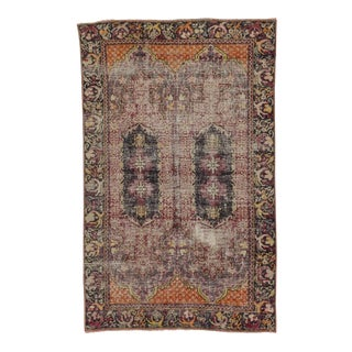 Distressed Vintage Turkish Rug - 4′11″ × 7′10″
