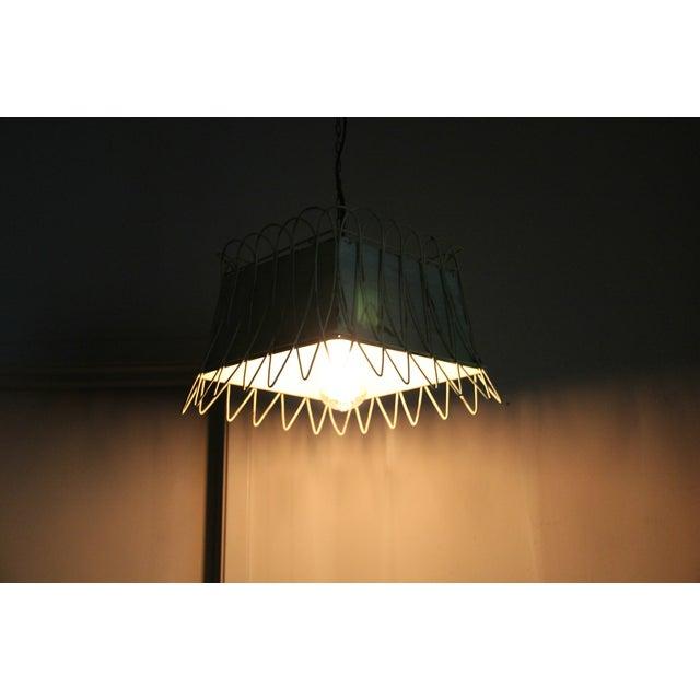 Image of Green Vintage Finish Antique Style Hanging Light