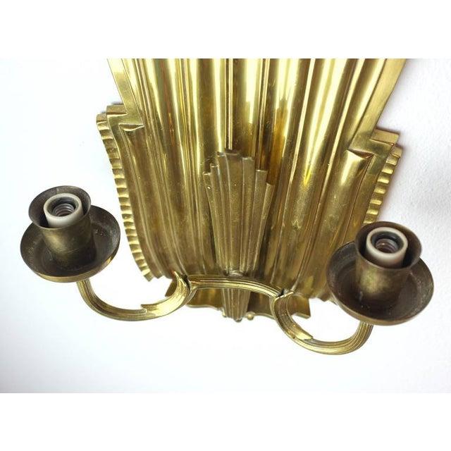 Swedish Grace Brass Sconces - A Pair - Image 5 of 6