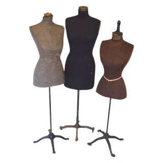 Mid-Century Adjustable Seamstress Dress Forms - Set of 3