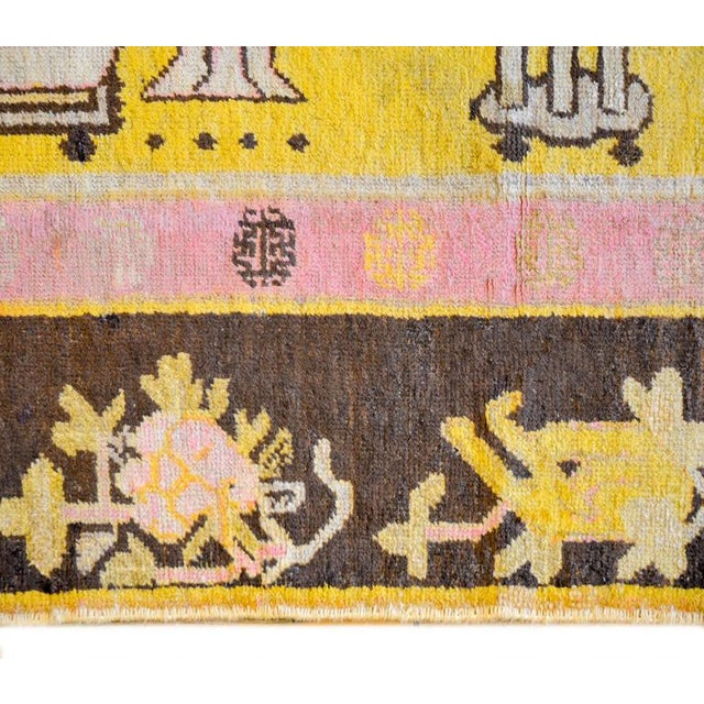 Early 20th Century Pictorial Khotan Rug - 4′4″ × 7′3″ - Image 4 of 6