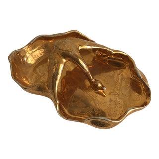 Mid-Century 22k Gold Bavarian Swan Tray