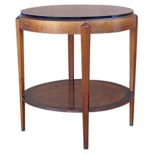 Art Deco Table W/ Smoked Glass Top