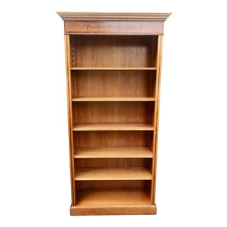 English Yew Wood & Satinwood Inlay Bookcase