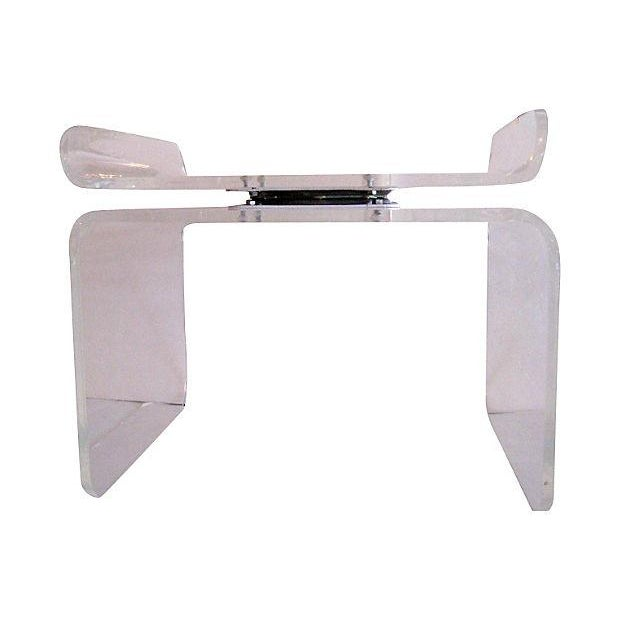 Lucite Swivel Top Bench - Image 1 of 4