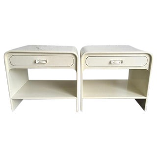 Vintage White Nightstands - A Pair