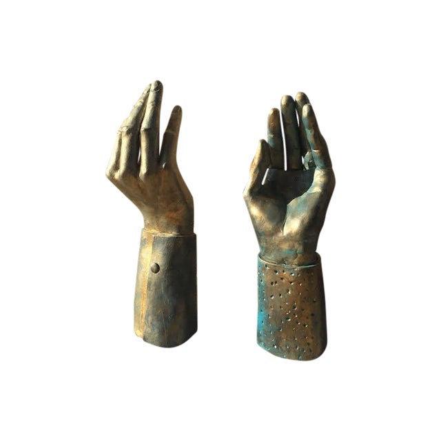 Hand-Made Sculptural Hands - A Pair - Image 1 of 8