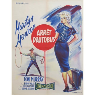 1956 Marilyn Monroe Movie Poster, Arret d'Autobus (Bus Stop)