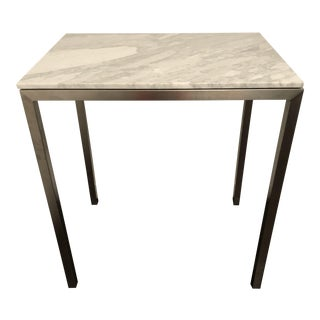Room and Board White Marble Bistro Table