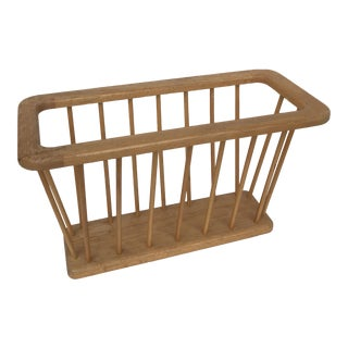 Danish Modern Oak Magazine Rack