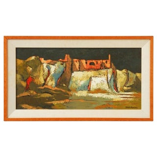 """Darwin Musselman """"Les Baux De Provence"""" Mid-Century Oil Painting"""
