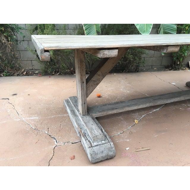 Antique Rustic Farm Table - Image 5 of 7