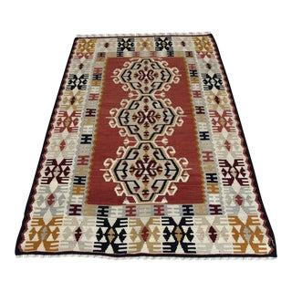 Vintage Turkish Kilim Rug - 3′6″ × 5′9″