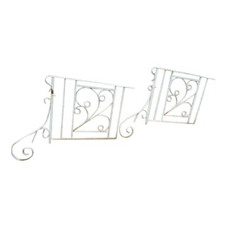 Wrought Cast Iron Fence Gates - A Pair