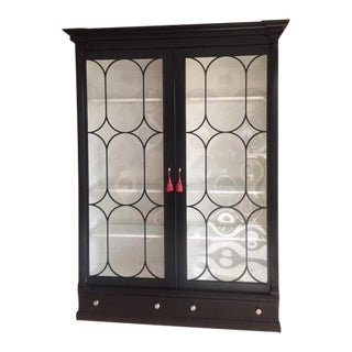 Ralph Lauren Polished Black China Cabinet