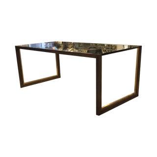 Mid-Century Bronze Finish Metal Coffee Table