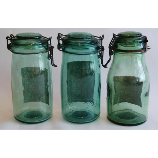1930s French Canning Preserve Jars w/ Labels & Lids - Set of 3 - Image 8 of 8