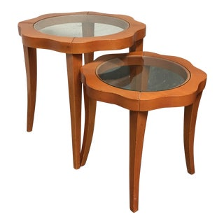 Roche Bobois Floral Shaped Nesting Side Tables - A Pair
