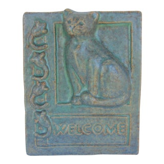Janet Ontko Cat Welcome Plaque